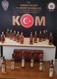 Burdur'da 3 Araçta 35 Şişe Kaçak İçki Ele Geçirildi