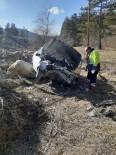 Yoldan Çıkan Otomobil Şarampolde Yuvarlandı Açıklaması 1 Yaralı
