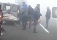 Iğdır'da Sis Zincirleme Kazaya Neden Oldu Açıklaması 4 Yaralı