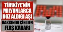 BREZILYA - Türkiye'nin de milyonlarca doz satın aldığı aşı hakkında Çin'den karar!