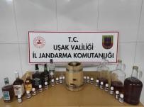 Uşak'ta 15 Litre Kaçak Alkol Ele Geçirildi