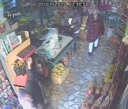 Rize'de Çorap Hırsızları Marketin Güvenlik Kamerasına Takıldı