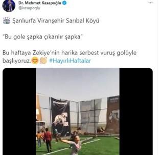 Şanlıurfalı Zekiye'nin Şık Golünü Bakan Kasapoğlu Alkışladı