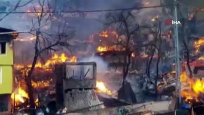 Artvin'in Yusufeli İlçesi Dereiçi Köyündeki Yangın Kontrol Altına Alındı