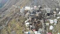 Artvin'de 60 Hanenin Yandığı Köy Havadan Görüntülendi