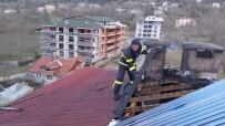 Kastamonu'da Çıkan Çatı Yangını Büyümeden Söndürüldü