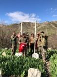 Uludere'de Şehit Mezarları Temizlenip Türk Bayrakları Yenilendi