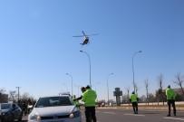 Aksaray'da Helikopter Destekli Trafik Uygulaması