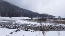 Bolu'nun Yüksek Kesimlerinde Kar Yağışı Etkili Oluyor