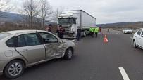 Tır İle Otomobilin Karıştığı Kazada 2 Kişi Yaralandı