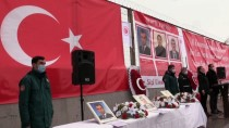 Ağrı'da Teröristlerin Roketli Saldırısında Şehit Düşen 3 Gümrük Personeli Törenle Anıldı