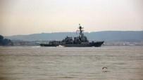 ABD Savaş Gemisi 'USS Thomas Hudner'  Çanakkale Boğazı'ndan Geçti