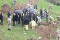 Suriye Sınırında Yağmur Altında Fidanlar Toprakla Buluşturuldu