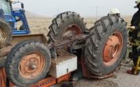 Karaman'daki Traktör Kazasında Baba Öldü, Kızı Yaralandı