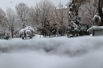 Aksaray Sabaha Beyaz Örtüyle Uyandı