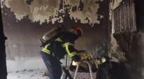 Elektrikli Soba Yüzünde Çıkan Yangın Evi Kül Etti