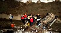 Bolu'da Otomobil Kanala Uçarak Takla Attı Açıklaması 1 Yaralı