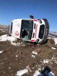 Kars'ta Ambulans Takla Attı Açıklaması 3 Yaralı