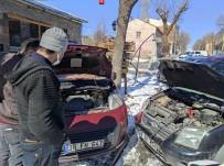 Kars'ta Araçlar Dondu, Çalışmadı