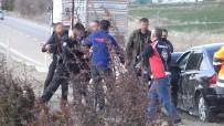 Kırıkkale'de Kaza Sonrası Ortalığı Birbirine Kattı, Polise Tehditler Savurdu