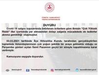 Amasya'da Semt Pazarı Geçici Olarak Kapatıldı