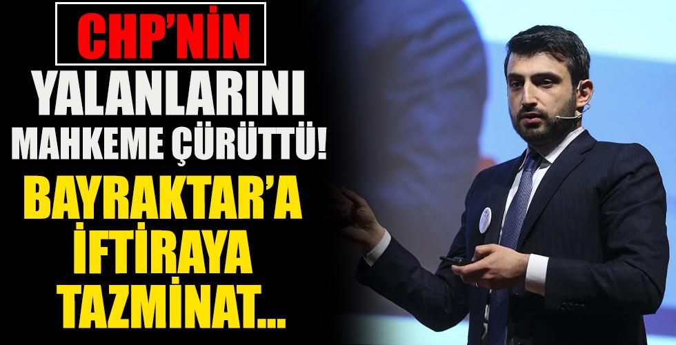 Bayraktar'a iftiraya tazminat!