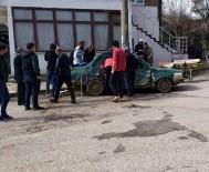 Beton Mikseri Otomobile Çarptı Açıklaması 3 Yaralı