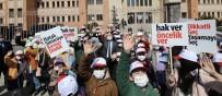 Ağrı'da 'Yayalar Kırmızı Çizgimiz' Sloganıyla Kırmızı Çizgi Çekildi