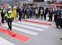 Karabük'te Yaya Geçitlerinde 'Kırmızı Çizgi' Dönemi Başladı