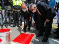 Kayseri'de Kırmızı Çizgiler Çizildi, Yaya Geçitlerine Dikkat Çekildi