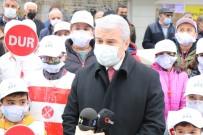 Kırmızı Çizgilerle Kırşehir'de, Yayalar İçin Duyarlılık Dönemi Başladı
