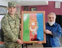 El Emeği Hat Sanatlı Tablosunu Azerbaycan Ordusuna Hediye Etti