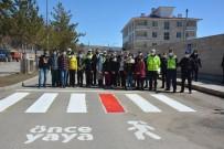 Tercan'da Yaya Geçitlerine 'Kırmızı Çizgi' Uygulaması