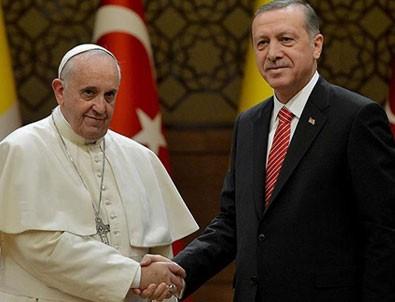 Papa, Başkan Erdoğan'a telgraf gönderdi
