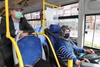 Başkan Ercengiz İlk Ve Tek Kadın Halk Otobüsü Şoförü İle Seyahat Etti.