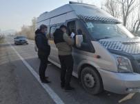Ağrı'da Okul Servis Araçları Denetlendi