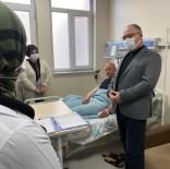 Başkan Bilgin, Kaza Yapan İtfaiye Erlerini Ziyaret Etti