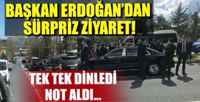 Başkan Erdoğan Sarıyer'de minibüs durağına uğrayarak minibüsçülerle sohbet etti
