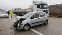 Kırıkkale'de İki Otomobil Çarpıştı Açıklaması 2 Yaralı