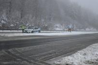 Bolu Dağı'nda Kar Kalınlığı 20 Santimetreye Ulaştı