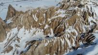 Beyaza Bürünen Kapadokya, Havadan Görüntülendi