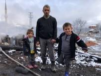 Elektrik Kontağından Çıkan Yangın Baba Ve 2 Çocuğunu Evsiz Bıraktı