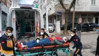 Kamyonete Çarpan Bisikletli Yaralandı