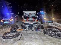 400 Metre Bakır Kablo Çalan 4 Kişi Tutuklandı