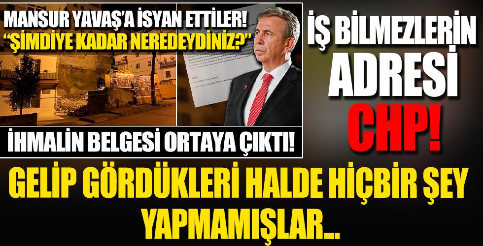 CHP'li belediye tedbir almadı, facia 'geliyorum' dedi