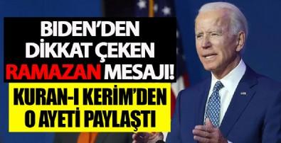 Joe Biden'dan dikkat çeken Ramazan mesajı!