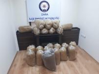 Sivas'ta 135 Kilogram Kaçak Tütün Yakalandı