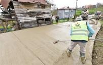 Altınordu'da Beton Yol Çalışmaları Sürüyor