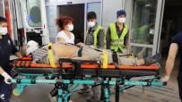 Limanda 3. Kattan Düşen İşçi Yaralandı