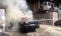 Kahramanmaraş'ta Otomobil Yangını